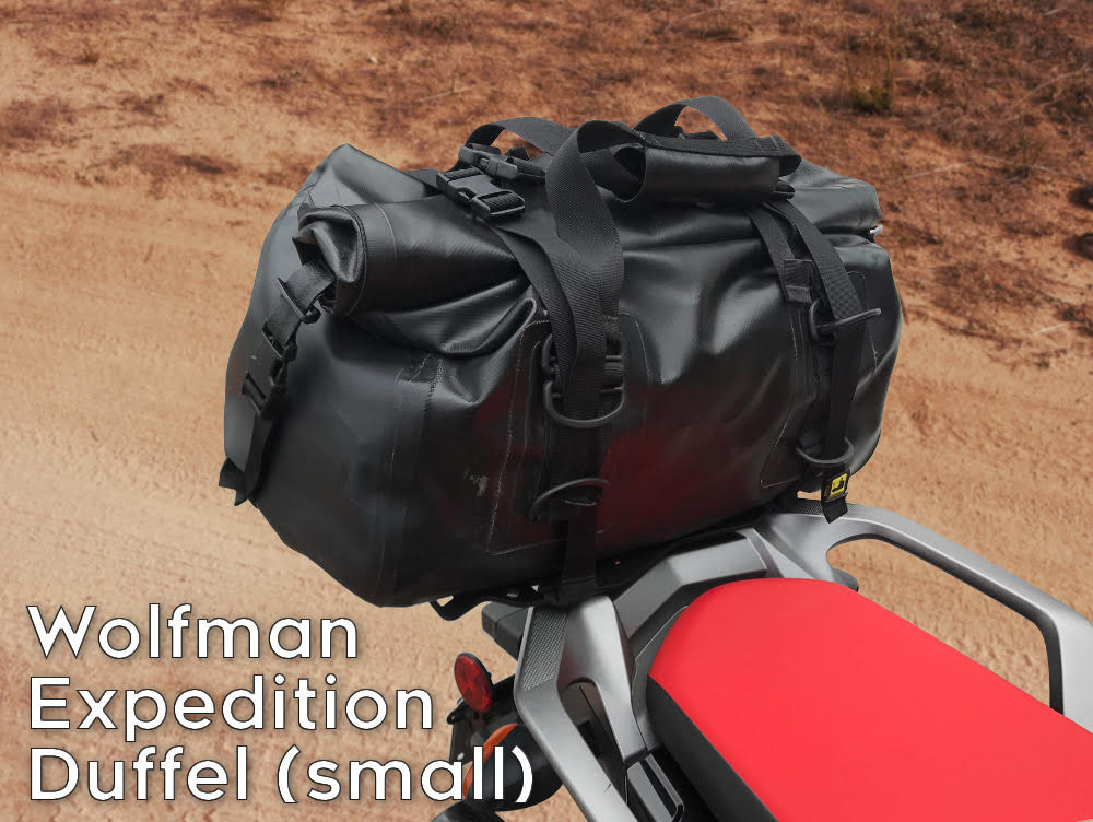 africa twin crf1000l rear luggage rack wolfman expedition duffel