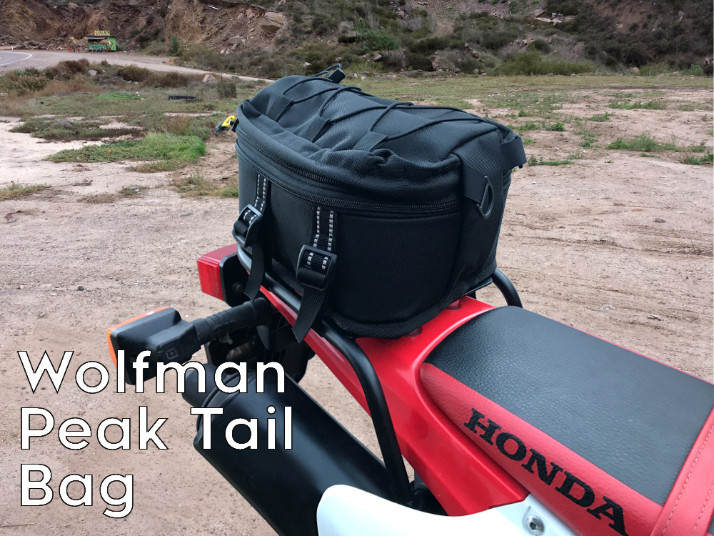 crf230l rear luggage rack wolfman peak bag