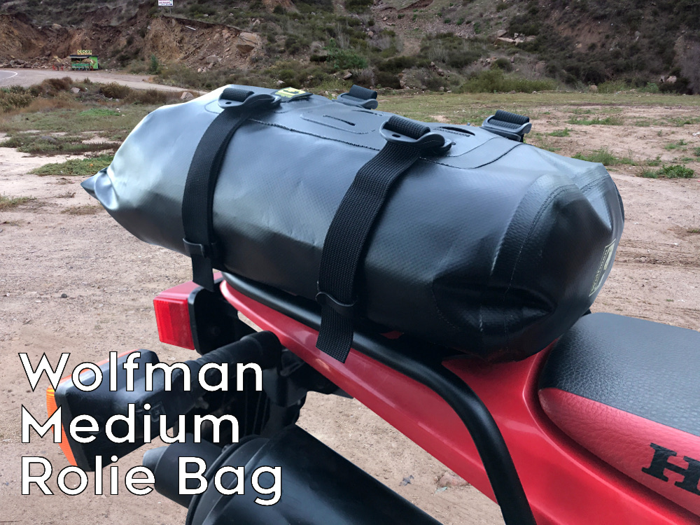 crf230l rear luggage rack wolfman rolie