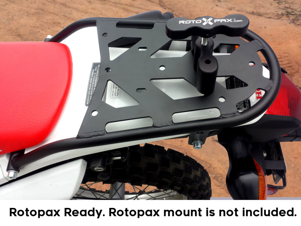 crf250l rear luggage rack rotopax mount