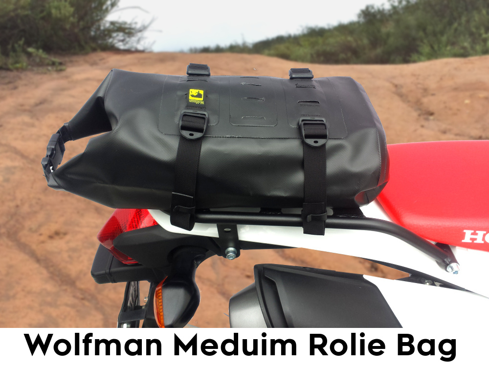 crf250l rear luggage rack wolfman rolie