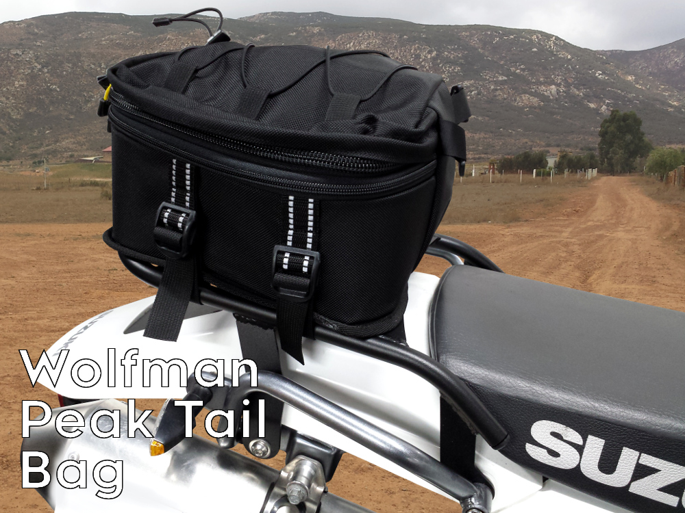 dr650 rear luggage rack wolfman peak tail bag