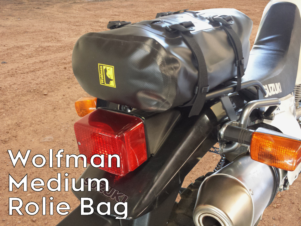 dr650 rear luggage rack wolfman rolie