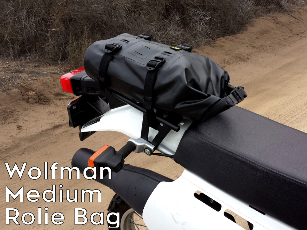 XR650L rear luggage rack wolfman rolie