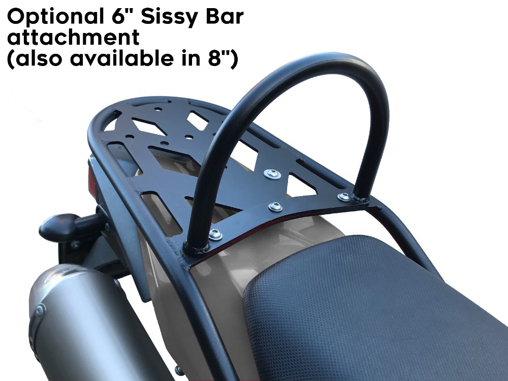 xt250 rear luggage rack sissy bar